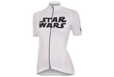 Maillot femme bioracer star wars logo blanc l