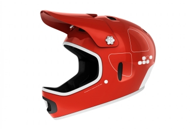 casque integral poc cortex flow rouge m l 56 58 cm