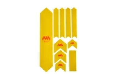 Kit protection de cadre all mountain style honey comb xl 10 pcs jaune orange