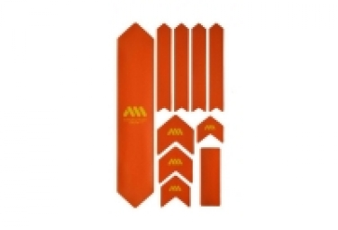Kit protection de cadre all mountain style honey comb xl 10 pcs orange jaune