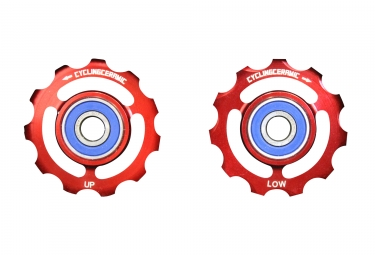 CiclismoCeramic Jockey Wheels Sram 9 / 10s Red