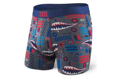 boxer saxx vibe bleu rouge m