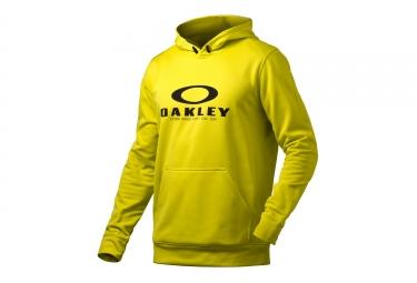 sweat a capuche oakley 360 po jaune s