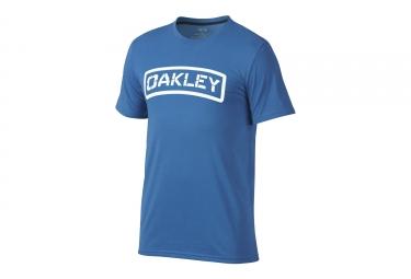 t shirt oakley o tab bleu xl