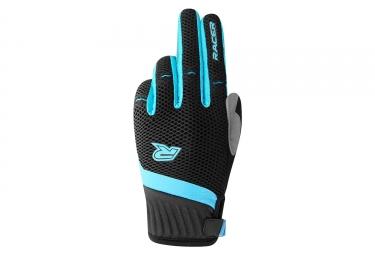 Paire de gants longs racer air race noir bleu m