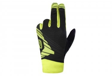 Paire de Gants Longs Enfant Racer Light Speed 2 Kid Noir Jaune