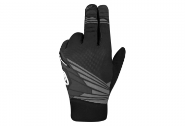 Paire de gants longs racer light speed 2 noir gris xl