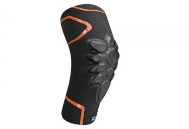 Genouilleres racer smart skin d3o noir orange l
