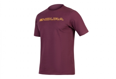 T-Shirt Technique Endura One Clan Carbon Bordeaux