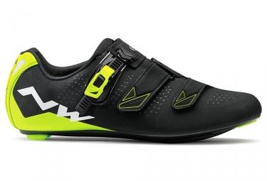 chaussures route northwave phantom 2 srs noir jaune 40
