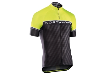 Northwave Logo Kid 3 Junior Short Sleeves Jersey Black Yellow