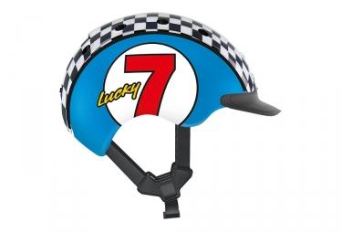 casque enfant casco 2018 mini 2 lucky 7 bleu s 52 56 cm
