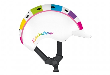 Casque Enfant Casco 2018 Mini 2 Rainbow Blanc