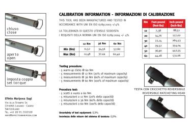 Effetto Mariposa Torque Wrenche Guistaforza II 10-60 Nm Pro