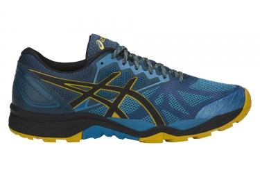 Chaussures de running asics gel fujitrabuco 6 bleu jaune 44