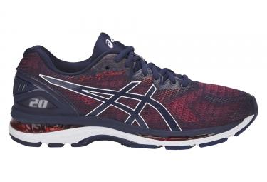 Chaussures de running asics gel nimbus 20 bleu rouge 44