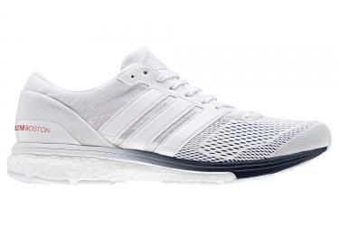 adidas running adizero boston 6 blanc bleu 42
