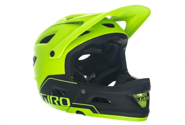 GIRO SWITCHBLADE MIPS Helmet with Removable Chinbar Green Black