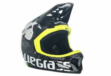 Casque integral bluegrass brave noir jaune xl 60 62 cm