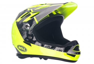 Casque integral bell sanction noir gris jaune l 58 62 cm