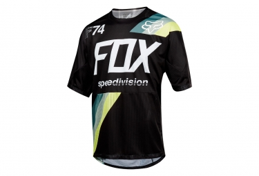 Maillot Manches Courtes Fox Demo Drafter Noir