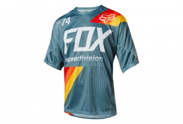 Fox Demo Drafter Short Sleeves Jersey Blue