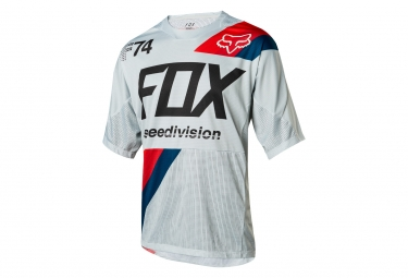 Maillot manches courtes fox demo drafter gris l