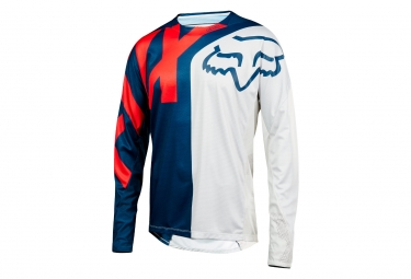 Fox Demo Preme Long Sleeves Jersey Blue Red