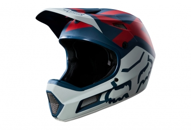 casque integral fox rampage comp bleu rouge s 55 56 cm
