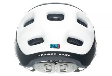 Casco POC TRABEC RACE Negro Blanco