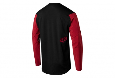 Fox Attack Pro Long Sleeves Jersey Rot Schwarz
