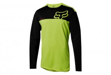 Maillot Manches Longues Fox Attack Pro Jaune Noir