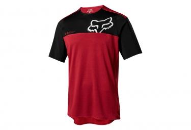 Jersey Fox Attack Pro de manga corta rojo negro