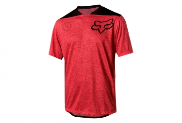 Maillot Manches Courtes Fox Indicator Asym Rouge Noir