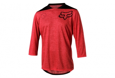 Fox Indicator Asym 3/4 Sleeves Jersey Rojo Negro