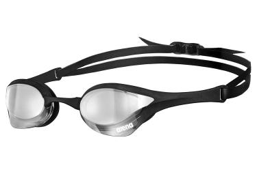 lunettes de bain arena cobra ultra mirror argent noir