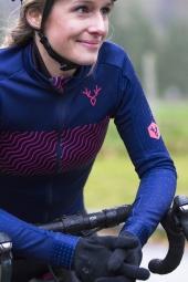 Maillot Pluie Manches Longues Femme LeBram Pailhères Coupe Pro Bleu Rose