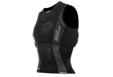 troy lee designs gilet de protection sans manches sans dorsale 3800 noir kid l