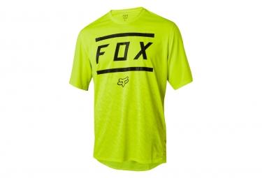 Fox Ranger Bars Kurzarmtrikot Gelb