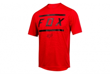 Maillot Manches Courtes Fox Ranger Bars Rouge
