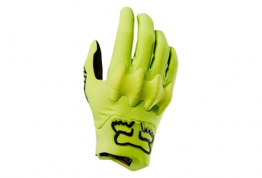 Fox Attack D3O Long Gloves Yellow
