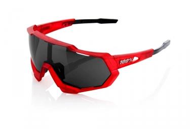 Paire de Lunettes 100% Speedtrap - Red Matte Black / Black Mirror