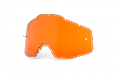 100% RACECRAFT, ACCURI and STRATA Anti Fog Lenses - HiPER Orange