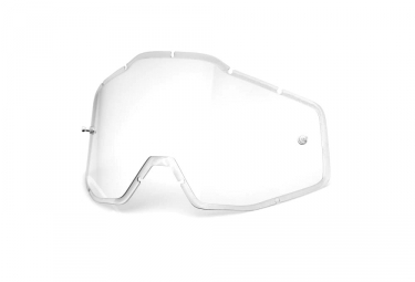 100% RACECRAFT, ACCURI and STRATA Anti Fog Lenses - Clear