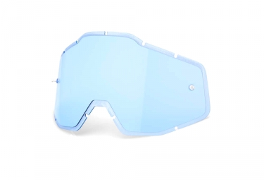 100% RACECRAFT, ACCURI and STRATA Anti Fog Lenses - Blue