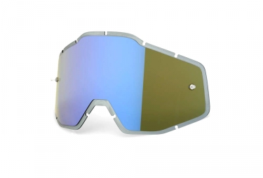 100% RACECRAFT, ACCURI and STRATA Anti Fog Lenses - Blue Mirror Smoke