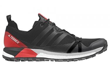 Adidas running terrex agravic noir rouge 46
