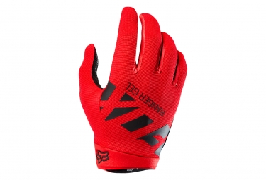gants longs fox ranger gel rouge m