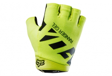 gants courts fox ranger gel jaune m