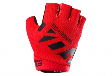 gants courts fox ranger gel rouge m